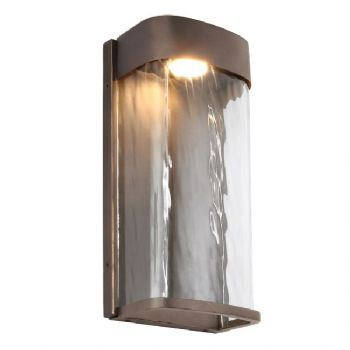 Elstead Feiss Bennie Large Led Wall Light Antique Bronze