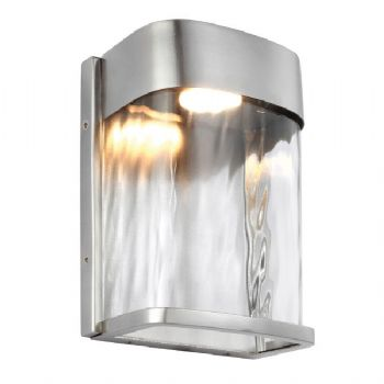 Elstead Feiss Bennie Small Led Wall Light Painted Brushed Steel