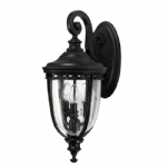 Elstead Feiss English Bridle medium wall lantern FE/EB2/M BLK FE/EB2/M BRB