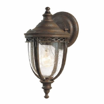 Elstead Feiss English Bridle small wall lantern FE/EB2/S BLK FE/EB2/S BRB