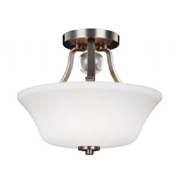 Elstead Feiss Elvington 2lt semi-flush nickel FE/EVINGTN/SF SN