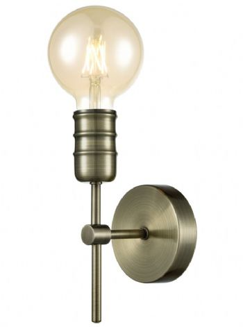Franklite Impact Wall Light Antique Brass FL2407-1