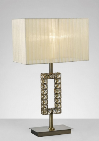 Diyas Florence table lamp antique brass il31532