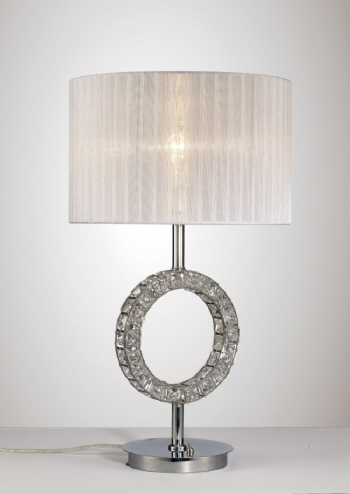 Diyas Florence rount table lamp chrome il31534