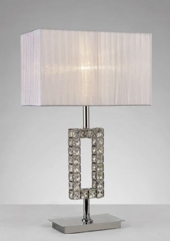 Diyas Florence rectangle table lamp chrome il31536