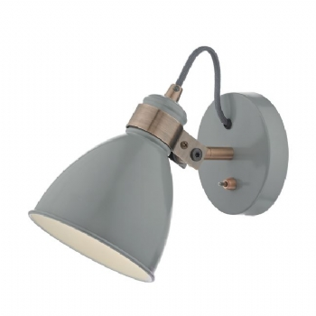 Dar Lighting Frederick wall light grey fre0739