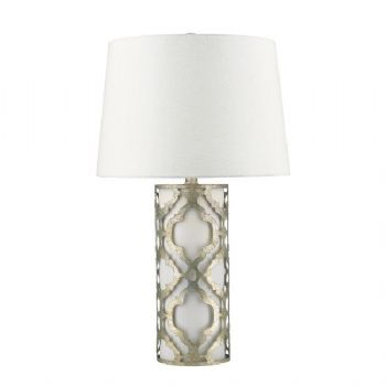 Elstead Gilded Nola Arabella table lamp silver GN/ARABELLA/TL/S