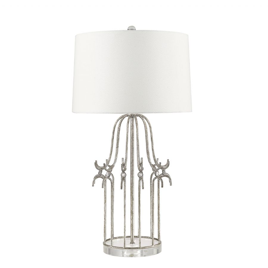 Elstead Gilded Nola Stella table lamp silver GN/STELLA/TL SV