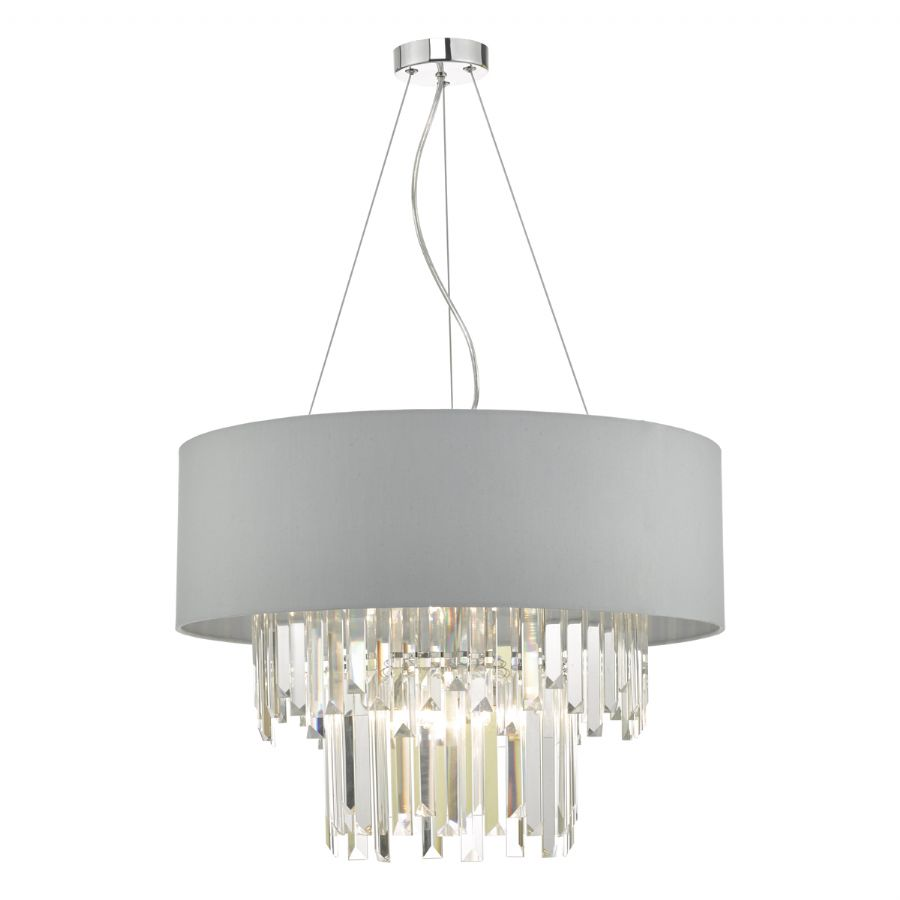 Dar Lighting Halle 6 light pendant HAL0639