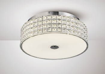 Diyas Hawthorne large round LED flush il80021