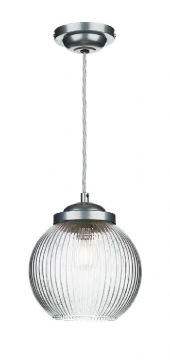 David Hunt Lighting Henley Pendant Satin Chrome HEN0146