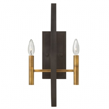 Elstead Hinkley Euclid 2lt wall light HK/EUCLID2