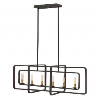 Elstead Hinkley Quentin 6lt island chandelier HK/QUENTIN/6ISLE
