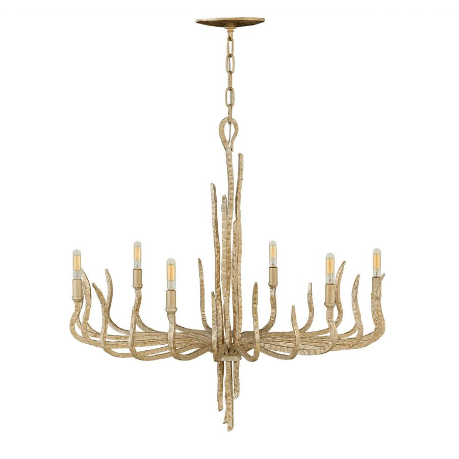Elstead Hinkley Spyre 6 light chandelier gold HK/SPYRE6C CPG