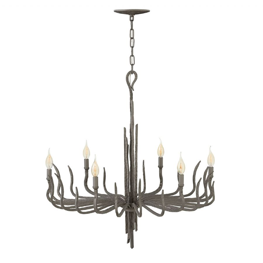 Elstead Hinkley Spyre 6 light chandelier bronze HK/SPYRE6C MMB