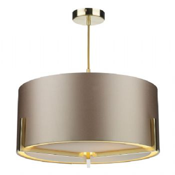 The Light Shade Studio Huxley pendant gold HUX0335