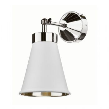 David Hunt Hyde chrome wall light white HYD0702C