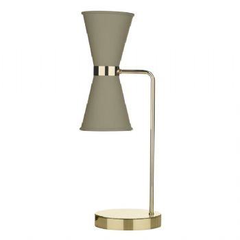 David Hunt Hyde table lamp pebble HYD4239