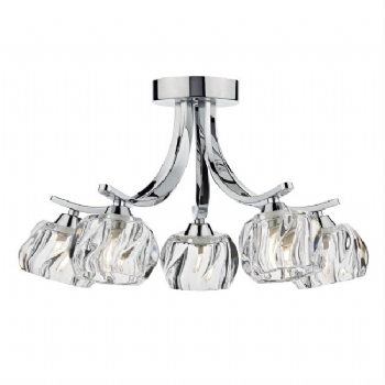 Dar Lighting Ivy 5lt semi flush IVY0550