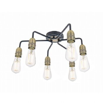 dar lighting kiefer 6 light matt black kie0622