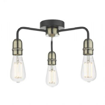 Dar Lighting Kiefer 3 light flush