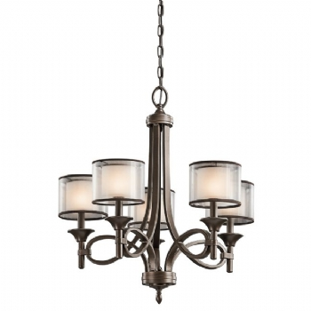 Elstead Kichler Lacey 5lt chandelier KL/LACEY5 MB