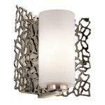 Elstead Kichler Silver Coral wall light KL/SILCORAL1
