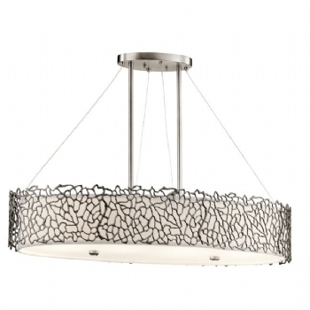 Elstead Kichler Silver Coral oval island light KL/SILCORAL/ISLE