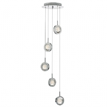 Dar Lighting Livia LED 5lt pendant LIV0550