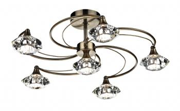 Dar lighting Luther 6 Light Semi Flush