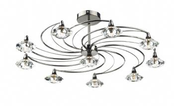 Dar Lighting 10 Light Semi Flush