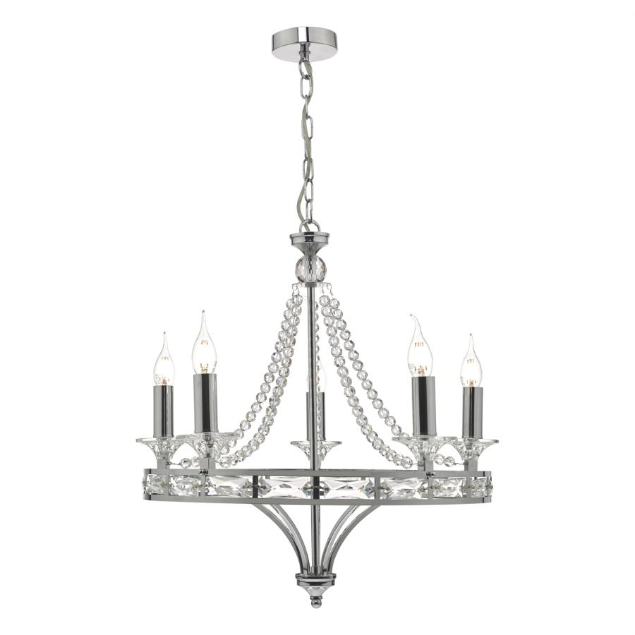 Dar Lighting Mabry 5 light chandelier MAB0550