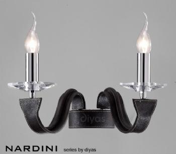 Diyas Nardini Black Double Wall Light