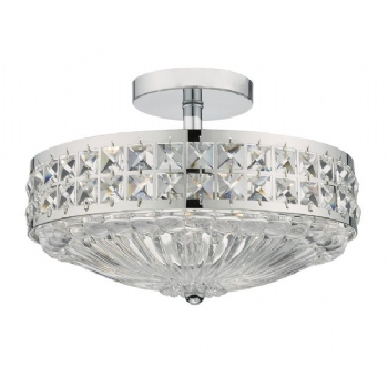 Dar Lighting Olona 3lt semi flush OLO5350 OLO5375