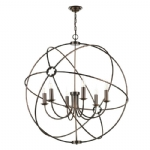David Hunt Orb 6lt pendant copper ORB0664