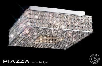 Diyas Piazza 4 light flush IL30431