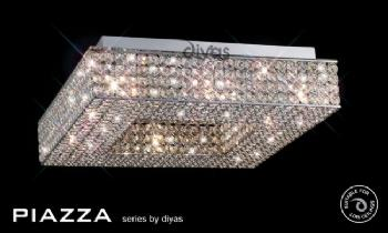 Diyas Piazza 8 light flush IL30432