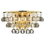Dar Lighting Pluto crystal wall light PLU0940