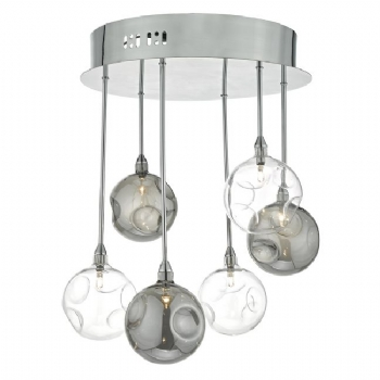 Dar Lighting Quinn 6lt semi flush qui0610