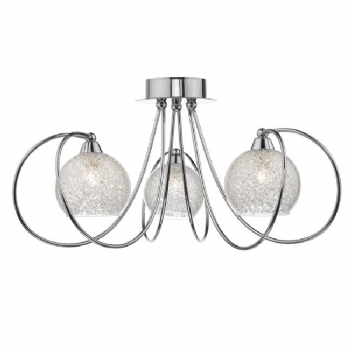 Dar Lighting Rafferty 3lt semi flush raf5350