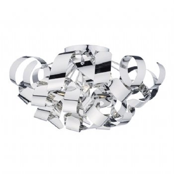 Dar Lighting Rawley 6lt Flush Chrome RAW0555