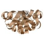 Dar Lighting Rawley 6lt Flush Copper RAW0564