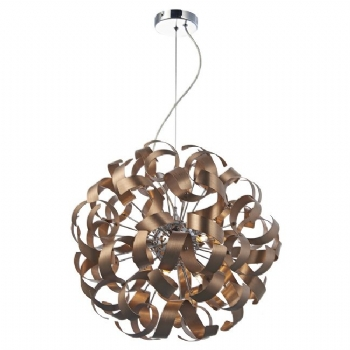 Dar Lighting Rawley 9 light pendant copper RAW1364