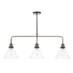 Dar Lighting Ray 3lt bar pendant RAY0375