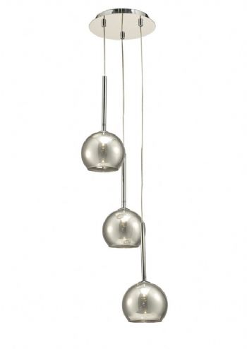 Deco Regina 3 Light Pendant Smoked D0102