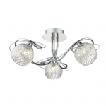 Dar Lighting Rehan 3lt semi flush REH0350