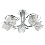 Dar Lighting Rehan 5lt semi flush REH0550