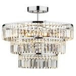 Dar Lighting Rowena crystal semi flush fitting ROW5450