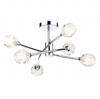 Dar Lighting Seattle 6lt semi flush sea0650