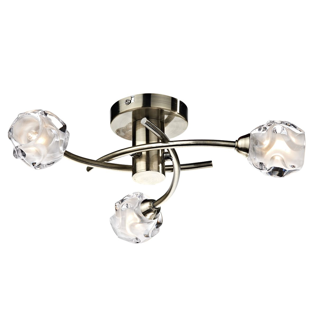 Dar Lighting Seattle 3 light semi flush